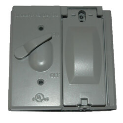 Double Gang 5-in-1 Combo Toggle/Switch Cover (Grey) Product Image