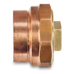 "3"" Cast Copper DWV Cleanout Adapter w/ Plug (C x Cleanout)"