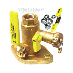 "1-1/2"" Sweat Isolator Flange with Drain (Pair)"