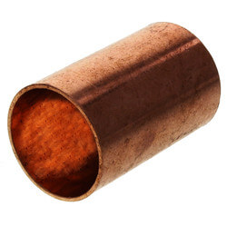 "3/4"" Copper Coupling Less Stop"