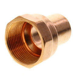 "1"" x 1-1/4"" Copper x Female Adapter Product Image"