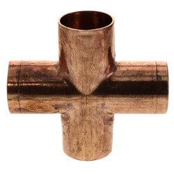 """3/4"""" Wrot Copper Cross"""
