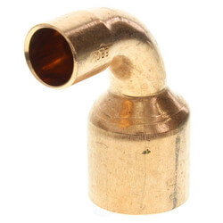"""1"""" x 1/2"""" Copper 90° Elbow Product Image"""