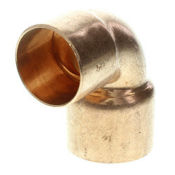 """3"""" x 2-1/2"""" Copper 90° Elbow Product Image"""