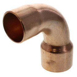 "1-1/4"" x 1"" Copper 90° Long Turn Elbow Product Image"