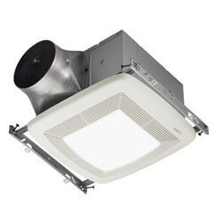 "XB50L Ultra Series Single Speed Ventilation Fan<br>w/ Light, 6"" to 4"" Duct Product Image"