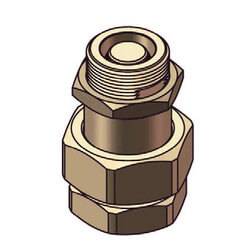 """1/2"""" Union Connection w/ 2-Way Check Valve for ZFT Tanks Product Image"""