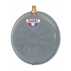Flat Round Hydronic Wall Hung Expansion Tank w/ Union Check (2.1 Gallon) Product Image