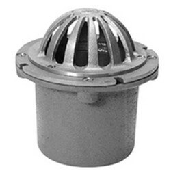 """6"""" x 4"""" Cornice Roof Drain with Clamping Collar (Bronze Dome Top) Product Image"""