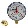 "LFDPTG-1 3"" Bottom Entry Pressure & Temperature Gauge (0-50 psi)"