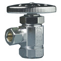 "1/2"" FIP x 3/8"" OD Compression Angle Stop Valve - No Lead (Chrome)"