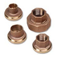 "1/2"" Bronze Half-Union Freedom Flange, NPT (Pair)"