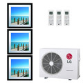 20,000 BTU 21.7 SEER Ductless Three Zone Heat Pump Package (9+9+9)