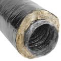 "4"" x 25' F118 Insulated Flex Duct (Black Jacket)"