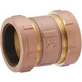 "1-1/4"" Brass Compression Coupling (Lead Free)"