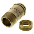 "3/4"" Male NPT x MANABLOC Supply Adapter (Zero Lead)"