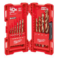 15 Piece Cobalt Red Helix Drill Bit Kit