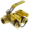 "3/4"" IPS Purge & Fill Full Port Forged Brass Ball Valve"