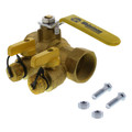 "1-1/2"" IPS Purge & Fill Full Port Forged Brass Ball Valve"