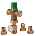 "1/2"" NPT Union 5002 Mixing Valve w/ Gauge (Low Lead)"