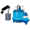 6-CIA-RFS 1/3 HP, 45 GPM - Automatic Submersible Sump Pump w/ remote float switch, 10ft power cord
