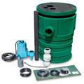 9S-SMPX-LG1A Pit Plus Sewage Basin/Pre-assembled 9S 4/10 HP Sewage Pump