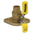 "1-1/2"" Sweat Full Port Brass Uni-Flange Isolator Ball Valve w/ Detachable Rotating Flange, Lead Free (Pair)"