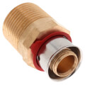 "Bronze 5/8"" PEX Press x 3/4"" M NPT Adapter w/ Attached Sleeve"