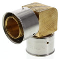 "Bronze 1-1/4"" PEX Press Elbow w/ Attached Sleeve"