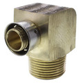 "Zero Lead Bronze 3/4"" PEX Press x 1"" M NPT Elbow w/ Attached Sleeve"