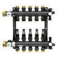 5-Loop EP Radiant Heat Manifold Assembly w/ Flow Meters