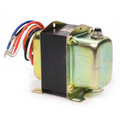 """Plate/Panel mounted 208/277/480 Vac Transformer w/ 9"""" lead wires and button for manually resetting the circuit breaker"""