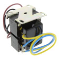 "Foot mounted 277 Vac Transformer w/ 12"" lead wires and energy limiting overload protection"