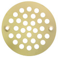 """4-1/4"""" Polished Brass PVD Stamped Coverall Round Shower Drain Strainer"""