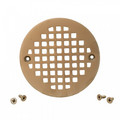 "4-1/4"" Heavy Duty Round Cast Brass Strainer (Pearl Nickel)"