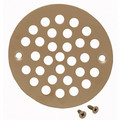 "4-1/4"" Pearl Nickel Stamped Strainer"