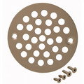 "4-1/4"" Polished Stainless Stamped Strainer"