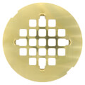 """4-1/4"""" Polished Brass PVD Snap-In Shower Drain Strainer"""