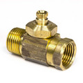 "1/2"" FIP x 1/2"" MIP Integral Shut-Off Stop Less Lock Shield Screwdriver Slot (Rough Brass)"