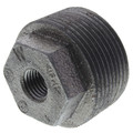 "1-1/4"" x 1/4"" Black Hexagon Bushing"