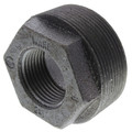 "1-1/4"" x 3/8"" Black Hexagon Bushing"