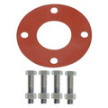 "4"" Full Face Red Rubber Gasket & Steel Bolt Kit"