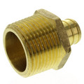 "3/4"" PEX x 1"" NPT Brass Male Adapter (Lead Free)"
