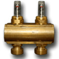"5 Loop 1-1/4"" Supply manifold w/ Balancing Valves & Flow Meters (Includes Mounting Bracket) (EK20)"