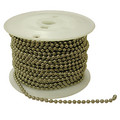 #10 Nickel Plated Brass 250' Spool Beaded Chain