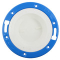 """4"""" x 3"""" PVC DWV Closet Flange w/ Adjustable Ring and Knockout"""