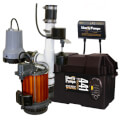 1/3 HP Sump Pump Combo 115v & 12v Battery Sump Pump Back-Up System - Pre-Assembled