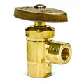 "1/2"" Nom. Sweat x 3/8"" O.D. Compr. Angle Stop Valve, Lead Free (Rough Brass)"