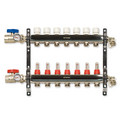 7-Loop Stainless Steel Radiant Heat Manifold