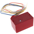 Enclosed Pilot Relay w/ Red Housing, 10 Amp, SPDT, 1/3 HP, 10-30 Vac/DC/120 Vac Coil